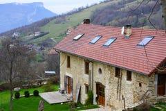 Großer alter französischer Bauernhof Stockfoto
