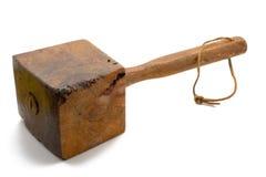 großer antiker Holzhammer Lizenzfreie Stockfotografie