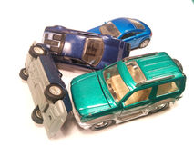 Großer Autounfall Lizenzfreies Stockfoto