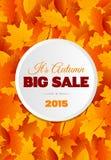 Großer Autumn Sale Flyer Design Lizenzfreies Stockfoto