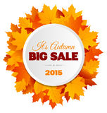 Großer Autumn Sale Flyer Design Stockbild