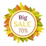 Großer Autumn Sale Vector Concept im flachen Design lizenzfreie abbildung