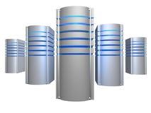 Großer Bauernhof der Servers 3D lizenzfreie stockfotografie