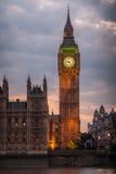 Großer Ben Night London Lizenzfreies Stockfoto