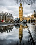 Großer Ben Reflection London Stockfotografie