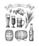 Großer Biersatz stock abbildung