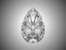 Großer Birnenschnittdiamant Stockfoto