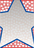 Großer blauer Stern Lizenzfreie Stockbilder