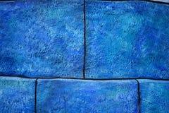 Großer blauer Ziegelsteinhintergrund stockbild