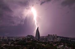 Großer Blitzschlag Lizenzfreie Stockbilder