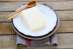 Großer Block von Butter Stockfotografie
