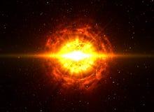 Großer Boom im Weltraum Stockfotografie