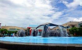 Großer Brunnen bei Marine Museum Stockbilder