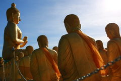 Großer Buddha in Buddhismus-Memorial Park-Öffentlichkeit Templel Lizenzfreies Stockfoto