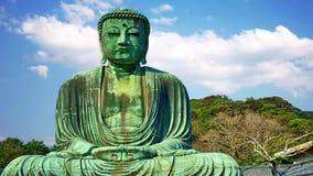 Großer Buddha Kamakura auf der Insel von Honshu Japan stock footage