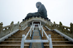 Großer Buddha in Lantau-Insel stockbild