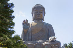 Großer Buddha, Lantau-Insel, Hong Kong, China Lizenzfreie Stockfotografie