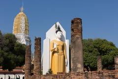 großer Buddha an Phitsanulok-Provinz, Thailand Stockbild
