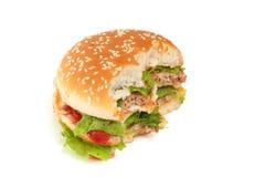 Großer Burger essen Stockfoto