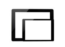 Großer Computer und Minitablette lizenzfreies stockbild