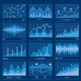 Großer Daten-Plan-Daten-Analytik-Vektor stock abbildung