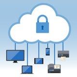 Großer Datenikonensatz, Datenverarbeitungskonzept der Wolke Lizenzfreies Stockbild