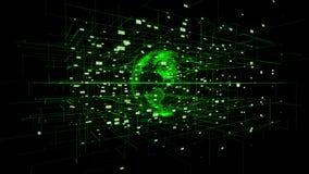 Großer Datensichtbarmachungs-Bewegungshintergrund stock footage