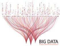Großer Datensichtbarmachungs-Konzeptvektor stockfotografie