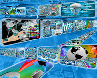 Großer Datenstrom Lizenzfreie Stockfotografie