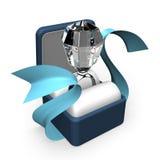 Großer Diamond Ring In Gift Box Stockbilder