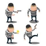 Großer Dieb-Steal Cartoon Character-Vektor Lizenzfreie Stockfotos