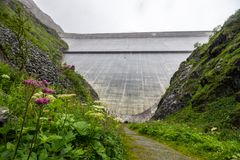 Großer Dixence-Damm in der Schweiz in den Alpen Lizenzfreie Stockbilder