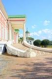 Großer Ensemble Haus Palast-Russlands Moskau Kuskovo-Zustand stellt Sheremetevs-18. Jahrhundert grafisch dar Lizenzfreies Stockbild