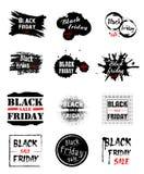 Großer entworfener Black Friday-Poster Stockfoto