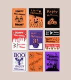 Großer entworfener Poster für Halloween Stockfotos