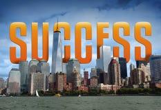 Großer Erfolg in der Großstadt Stockfotos