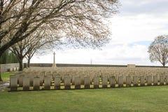 Großer Erster Weltkrieg Flandern Belgien des hölzernen Kirchhofs Stockbilder