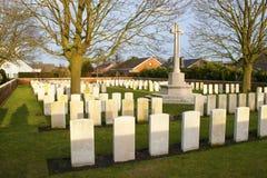 Großer Erster Weltkrieg Flandern Belgien des Kirchhofs Stockbild