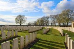 Großer Erster Weltkrieg Flandern Belgien des Kirchhofs Lizenzfreie Stockfotografie