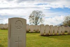 Großer Erster Weltkrieg Flandern Belgien des Kirchhofs Lizenzfreie Stockfotos