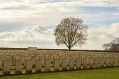 Großer Erster Weltkrieg Flandern Belgien des Kirchhofs Lizenzfreies Stockbild