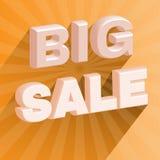 Großer Förderungs-Flieger des Verkaufs-3D Lizenzfreies Stockbild