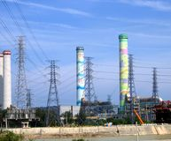 Großer Fabrik-Komplex Stockbilder