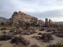 Großer Felsen bei Sonnenuntergang Stockbilder