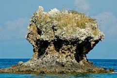 Großer Felsen im Meer Lizenzfreies Stockbild