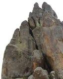 Großer Felsen lokalisiert auf dem weißen Hintergrund Stockfotos
