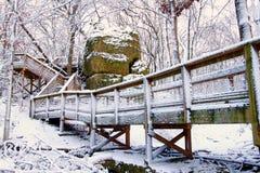 Großer Felsen in Nord-Illinois Lizenzfreies Stockfoto