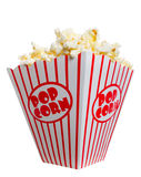 Großer fetter Kasten Popcorn Lizenzfreies Stockfoto