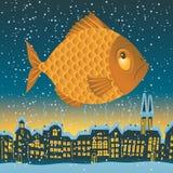 Großer Fisch fliegt Stockbilder