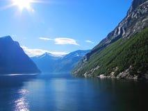 Großer Fjord Stockbild